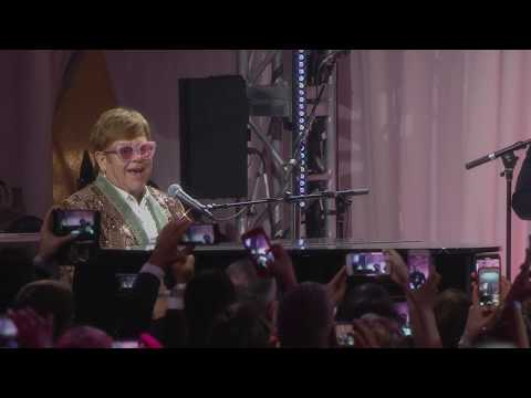 SPECIAL EVENTS ELTON AND TARON PERFORM TOGETHER