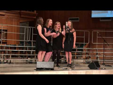 "Performance of ""How High the Moon"" arranged by Melody Hine with The Ladies."