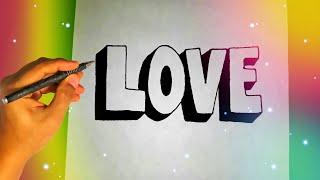 Как нарисовать 3D надпись LOVE?