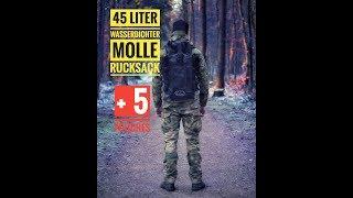 Wasserdichter 45 L Rucksack mit MOLLE - Der SCULI ONE Deutsch/Tactical /outdoor