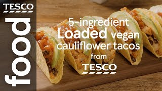 Loaded vegan cauliflower tacos