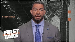 Roman Reigns talks battle with leukemia, LeBron James and the Lakers | First Take
