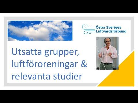 Utsatta grupper, luftföroreningar och relevanta studier video thumbnail.