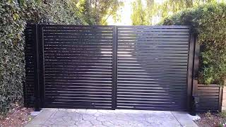 Aluminum Driveway Gate Install | Mulholland Security Los Angeles 1.800.562.5770