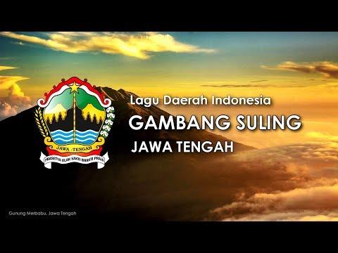Gambang suling   lagu daerah jawa tengah  karaoke  lirik dan terjemahan