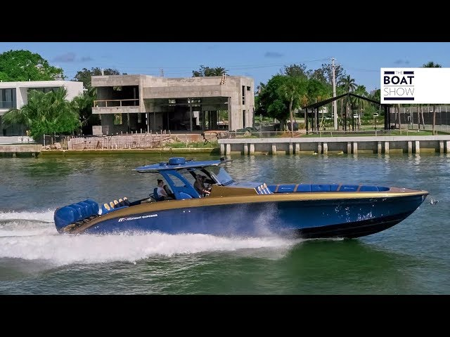 [ENG] MIDNIGHT EXPRESS 43 OPEN - 4K Review in Miami - The Boat Show