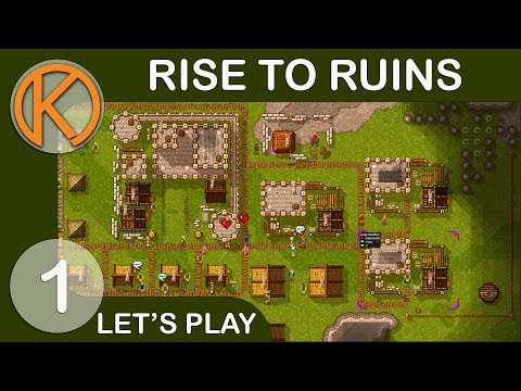Rise To Ruins Full Release   RIMWORLD MEETS TOWER DEFENSE - Ep. 1   Lets Play Rise To Ruins Gameplay
