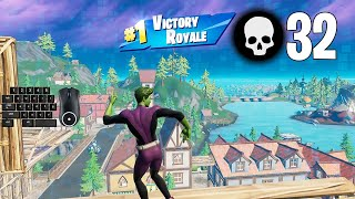 32 Elimination Solo Squad Win Aggressive Gameplay Full Game (Fortnite PC Keyboard)