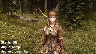 SkyrimSE - Angi's Camp: Archery Training and Level Up