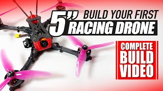 BEGINNER RACING DRONE - Stay at Home Build Video! - 'NEW 2020 EDITION ????