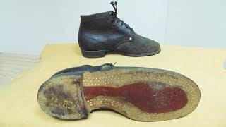 Рабочие ботинки СССР на деревянных шпильках из 60-х годов