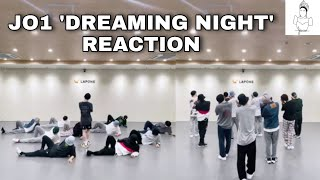 JO1 'Dreaming Night' PRACTICE VIDEO REACTION