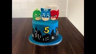How To Make A PJ Masks Cake ? (5 Mins) | Irmas Fondant Cakes