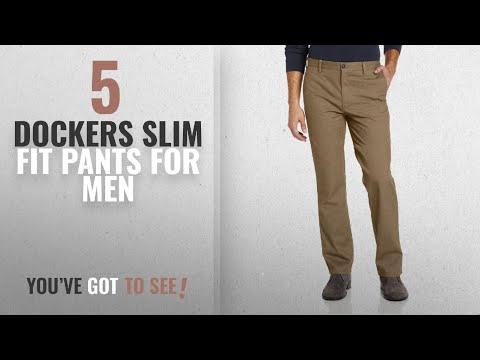 Top 10 Dockers Slim Fit Pants [2018 ]: Dockers Men's Easy Khaki D1 Slim-Fit Flat-Front Pant, New