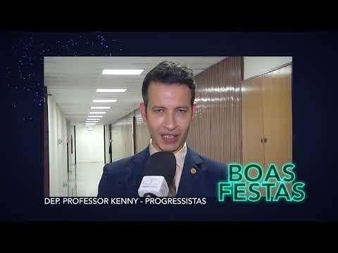 Boas Festas: Deputado Professor Kenny do Progressistas
