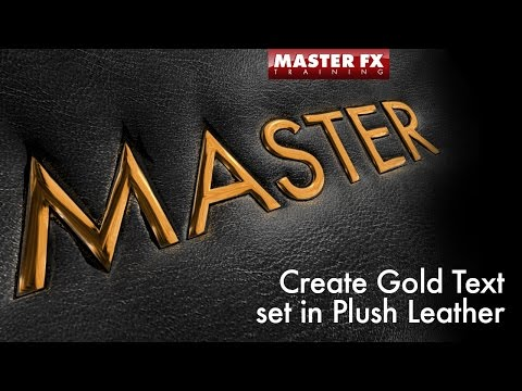 Create Realistic Leather Surface with Gold Text