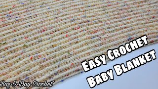 Easy Crochet Baby Blanket | Easy DIY Baby Blanket | Crochet Blanket Pattern