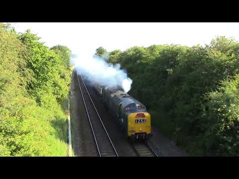 Class 55 Deltic D9009 'Alycidon' with 'The Welsh Central Lin…