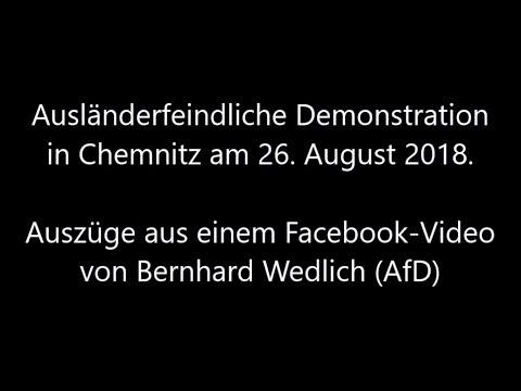 Ausländerfeindlicher Mob und Jagd auf Migranten in Chemnitz. 26. August 2018