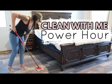 NEW! POWER HOUR CLEAN WITH ME KITCHEN & Floors 2019 |  RELAXING CLEANING MUSIC | This House of Ours