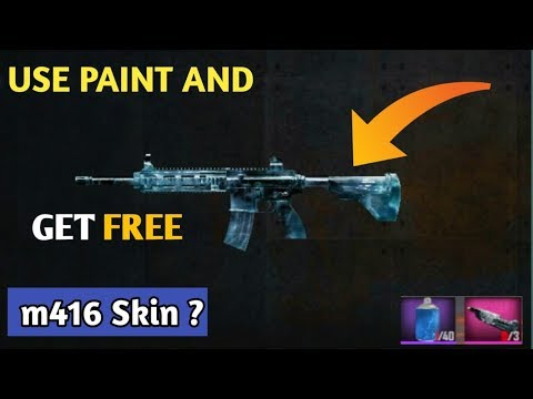 Use Of Paint In Pubg And Get Free M416 Skin And Other Gun Skins - usa of paint in pubg and get free m416 skin and other gun skins