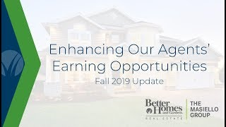 Enhancing Our Agents' Earning Opportunities - Fall 2019 Update