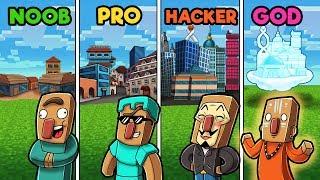 Minecraft - NOOB vs PRO vs GOD vs HACKER - VILLAGE!