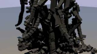 preview picture of video 'Blender - Rigid Body Physics - Collapsing Tower'