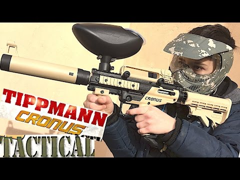 Tipmann Cronus Tatical Paintball Gun with Robert-Andre!