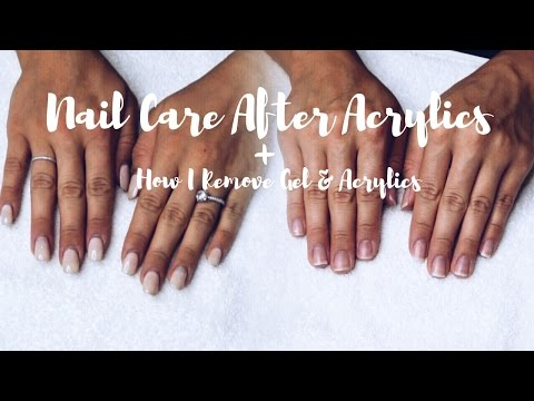 Video Nail Care After Acrylics + Gel & Acrylic Removal    SimplySandra