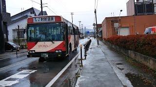 山交バス新庄-大蔵村・肘折温泉線前面展望県立病院前・新庄駅前~肘折待合所