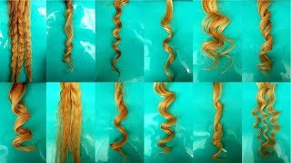 11 TYPES OF HEATLESS CURLS ON LONG HAIR / NOHEAT CURLS / HOW TO TUTORIAL