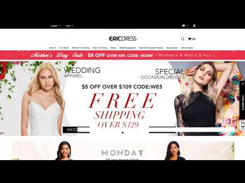 , title : 'EricDress Coupon Codes - Grab the Best Deals for Women and Men Clothing'