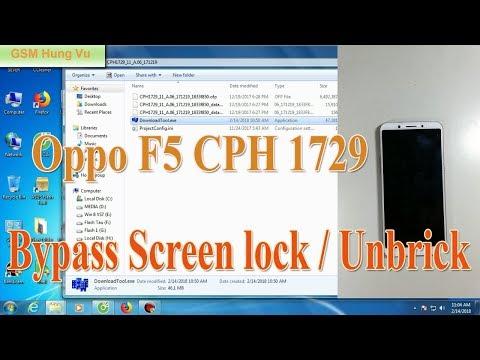 oppo f5 cph1723,oppo f5 hard reset, Remove lock screen
