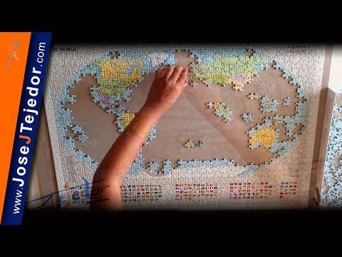 Puzzle mapamundi 1000 piezas a cámara rápida