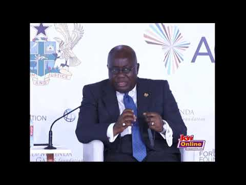 Akufo Addo at the Africa Transformation Forum 2018