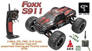 GPToys Foxx S911 (9115) 2.4GHz, 2Ch, 2WD, (1:12 Scale), RC Monster truck (RTR) + AKK EIO on board
