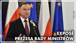 Briefing prasowy prezydenta Andrzeja Dudy po exposé Prezesa Rady Ministrów