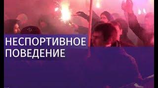 Массовая драка между футбольными фанатами произошла в Киеве