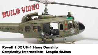 """Full Build Video - 1/32 """"Huey"""" Bell UH-1 Iroquois Gunship (Revell)"""