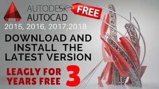 AutoCAD 2018 latest version ll download and install ll Mac and Windows free for 3 years In Hindi