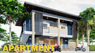 4 Door Apartment 2 Storey Design 11X8 (130 SQM) Full Plan
