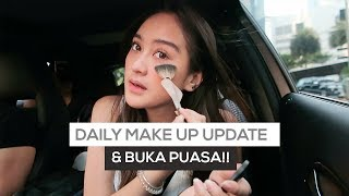 SALSHABILLA #VLOG - DAILY MAKE UP UPDATE & BUKA PUASA BARENG SHELY!