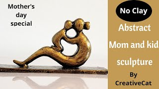 Sculpture Without Clay/Mother's Day Idea/Best Out Of Waste/art And Craft
