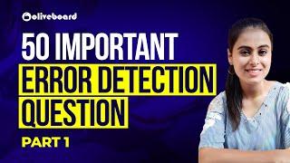 50 Important Error Detection Questions   English for SBI PO   SBI Clerk 2020   SBI PO 2020