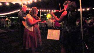 """Rebecca and Rachel playing """"Golden Slippers"""" at a wedding Reception"""