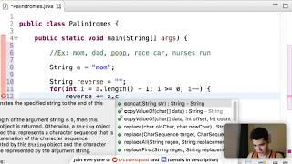 Palindrome Java Program Tutorial