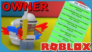 FINISHING THE OWNERS FIRST QUEST IN ROBLOX BEE SWARM SIMULATOR