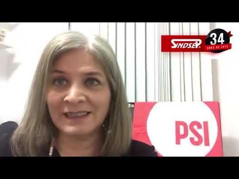 Denise Motta Dau parabeniza ao Sindsep pelos 34 anos de luta