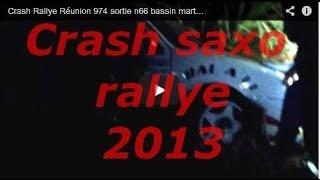 preview picture of video 'Crash Rallye Réunion 974 sortie n66 bassin martin nocturne'